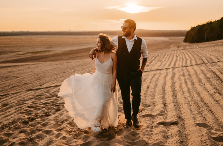 fotograf ślubny kraków, fotografia ślubna kraków, Just Married Fotografia Ślubna, sesja na pustyni błędowskiej